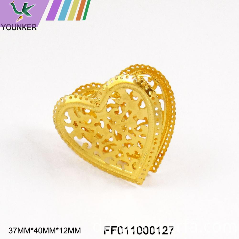 Heart Shape Metal Ornament